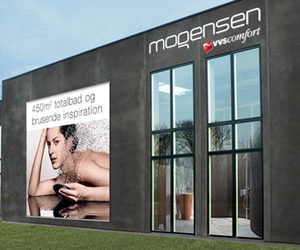 Mogensens Blikkenslager profil butik facade